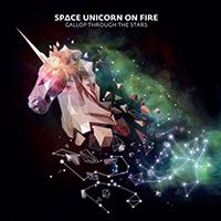 Space Unicorn On Fire